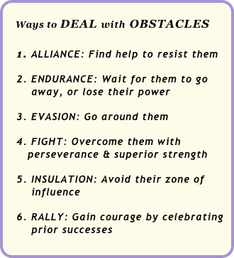 Ways to DEAL with OBSTACLES