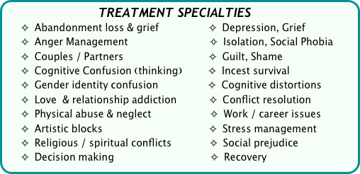 TREATMENT SPECIALTIES
